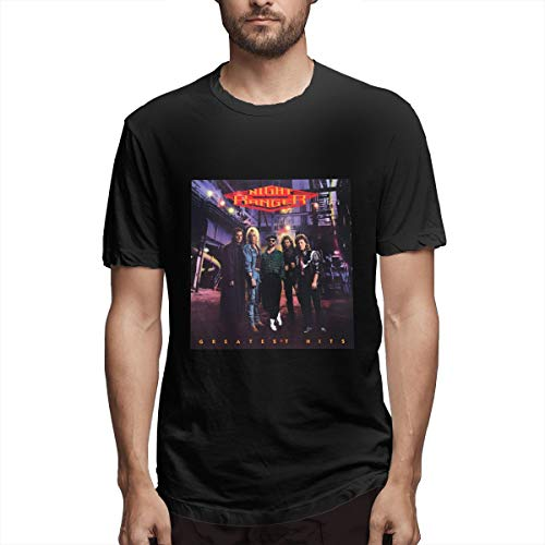 Digitwhale Men Night Ranger Greatest Hits Comfort Shirt Black