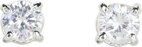 LAUREN Ralph Lauren Women's Cubic Zirconia Stud Small 0.85CT Silver/Crystal One - Silver Lauren