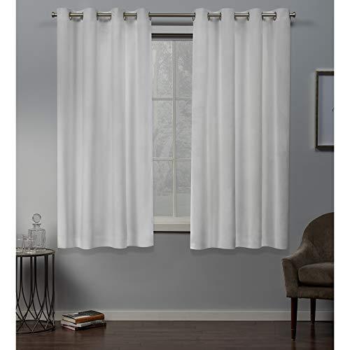 Exclusive Home Curtains Velvet GT Panel Pair, 54x63, Winter White (Luxury Pergola Designs)