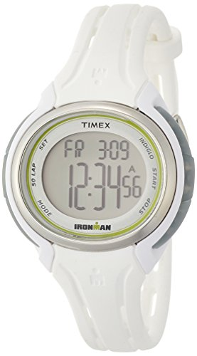 Timex Ironman Sleek 50-Lap Mid-Size Watch - White