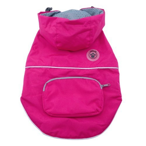 FouFou Dog Rainy Day Poncho, Medium, Fuchsia by FouFou Dog