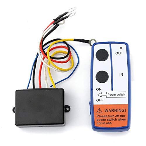 Pudincoco Kit de Control Remoto Interruptor de Control Remoto de cabrestante inalámbrico para camión ATV Winch (Negro)