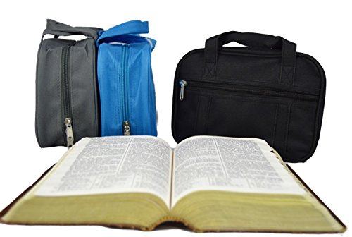 Standard Canvas Scripture Case (Black) - LDS standard quad by Deseret Deals (Image #3)