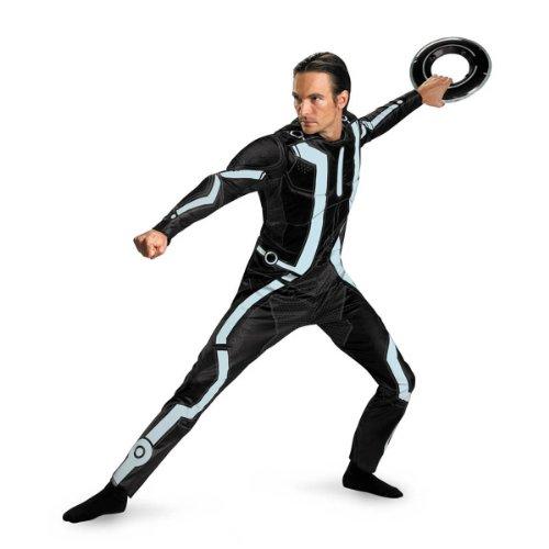 Disguise Men's Disney Tron Legacy Movie Deluxe Costume, Black/Aqua, X-Large for $<!--$37.99-->