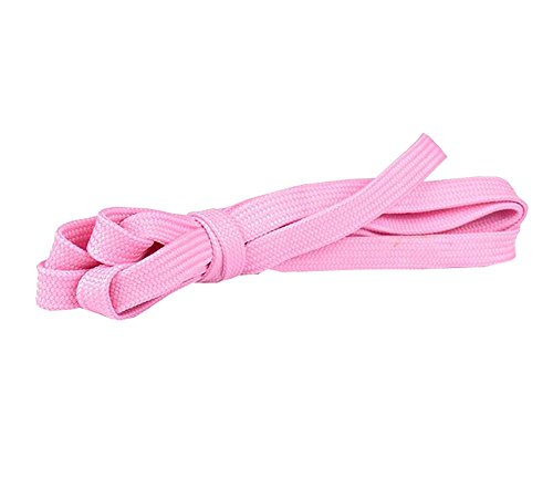 Flat Shoelaces [1 Pairs] Thick - For Shoes, Sneakers & Boots - Pink by DRAGON SONIC