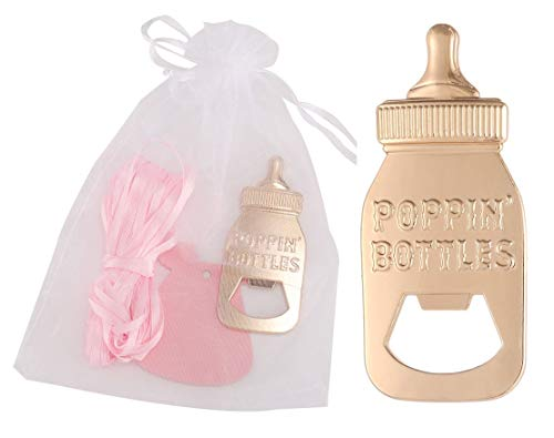 Yuokwer 24 Pack Poppin Bottle Shaped Bottle Opener Baby Shower Favor 1st Birthday Gifts for Guest Wedding Party Favor… |