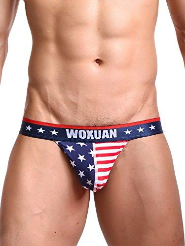 Bikini Underwear Nature - Mens's Boxer,Soft Sexy Underwear USA American Flag Boxers Briefs(28,XXXL)