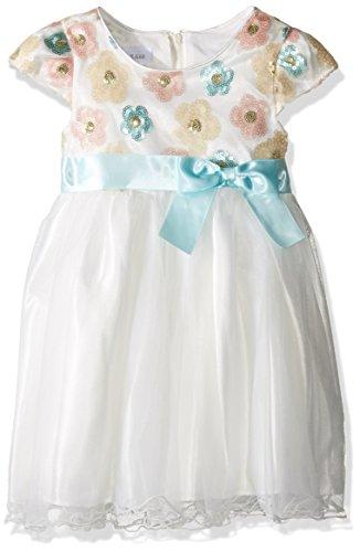 Bonnie Jean Little Girls' Toddler Sequin Flowers Ballerina, Ivory, 4T