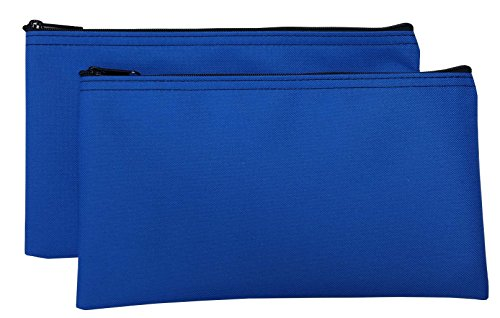 Zipper Royal - Zipper Bags Poly Cloth Value Package of 2 Bags (Royal Blue)