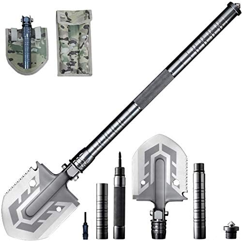 Multi Purpose Folding Shovel The Ultimate 23-in-1 Survival Tool Saw Wrench Hoe