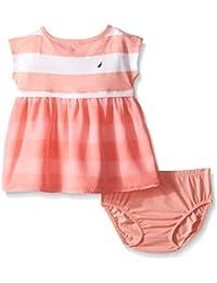 Baby Girls Printed Rugby Stripe Dress