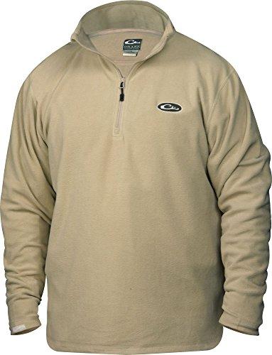Drake-Waterfowl-Mens-14-Zip-Fleece-Layering-Jacket-Khaki