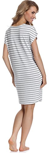 Merry Style Camisón para Mujer MS539 Gris/Weiß
