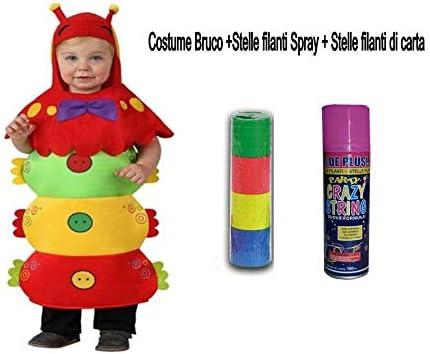 Dulce Idea ducray Disfraz Oruga Bebe 1/2 años + bengalas Spray + ...