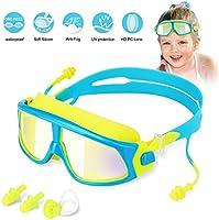 Kinder Schwimmbrille Schwimmbrillen für Kinder Taucherbrille Swimming Goggles, Anti Nebel UV-Schutz Kein Leck-Mit 2x...