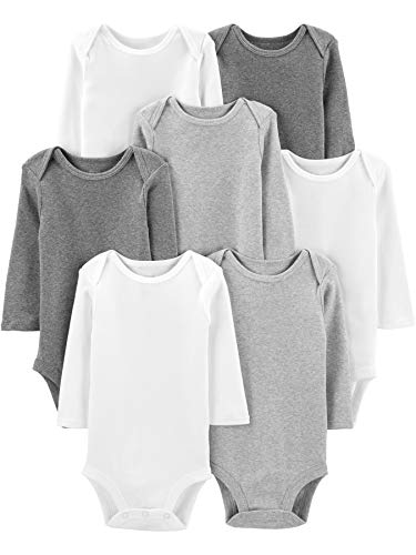 Simple Joys by Carters Baby Girls 7-Pack Long-Sleeve Bodysuit