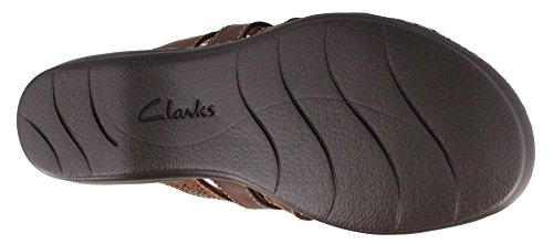 Clarks Sandals Field Leisa BROWN MULTI 6 5 Women's W Slide S1qpwTT