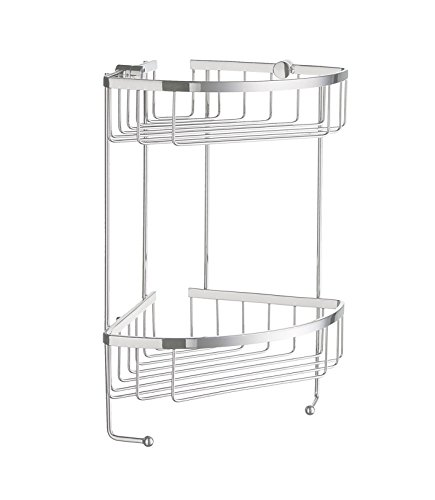 Smedbo SME_DK2031 Soap Basket Corner 2 Level, Polished Chrome by Smedbo