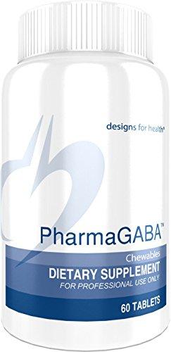 Designs for Health PharmaGABA - 200 Milligrams GABA Chewables for Calm + Restful Sleep (60 Chewable Tablets)