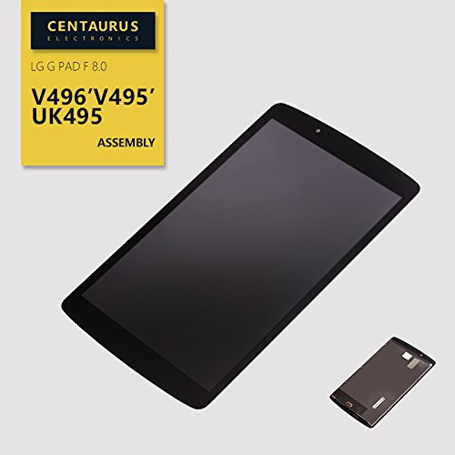 Full For LG G pad F 8.0 V496 V495 UK495 LCD Display Touch Digitizer Screen + Frame USA Black by CE CENTAURUS ELECTRONICS