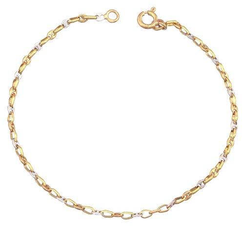 Orleo - REF1759BB : Bracelet Femme Or 18K bicolore