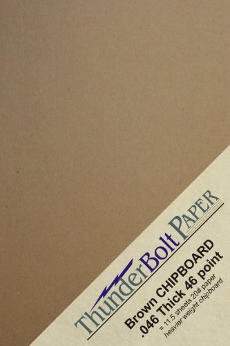 50 Sheets Chipboard 46pt (point) 5 X 7 Inches Heavy (Chipboard Covers)