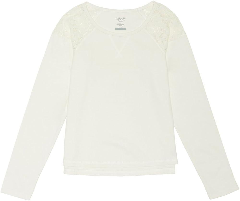 French Toast Girls Lace shoulder Sweatshirt