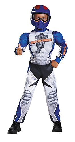 Boys Halloween Costume-Motorcycle Rider Muscle Kids Costume Small 4-6 -