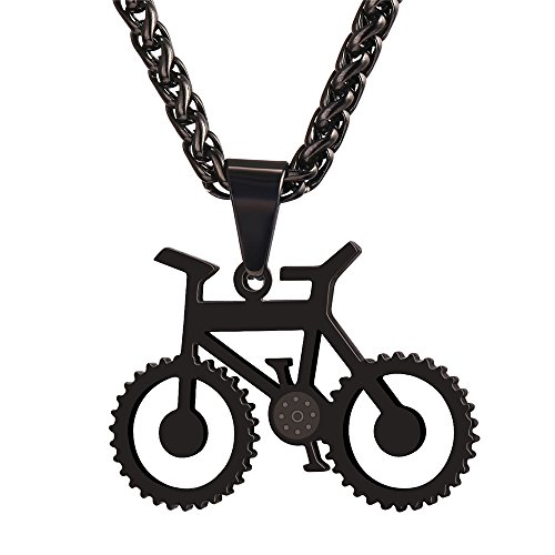 U7 Bicycle Jewelry Stainless Necklaces