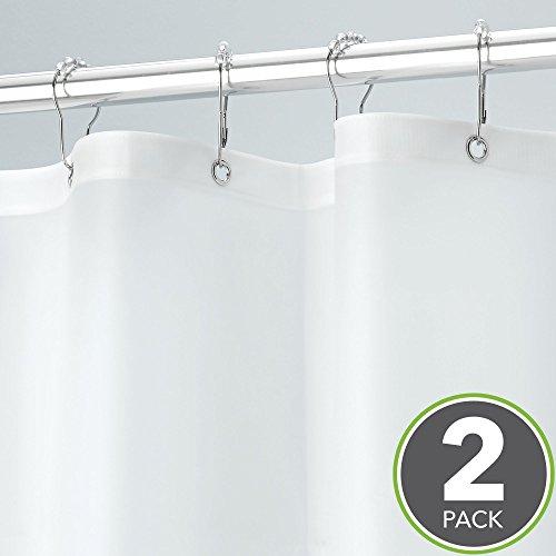 mDesign Vinyl Shower Curtain Liner, Heavy-Duty, Waterproof - Pack of 2, 72