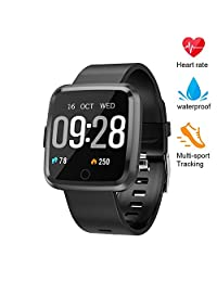 Fitness Tracker, Blood Pressure Oxygen Monitor Smart Watch,Waterproof Fitness Watch, Big Color Screen Activity Tracker with Continuous Heart Rate Sleep Monitor for Kids Women Men