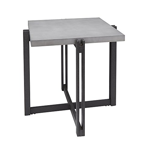 Silverwood FT1275-ACC-SCC Dakota End Table with Square Concrete Finish Top, 25.25
