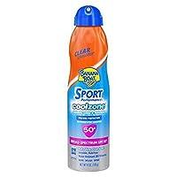 Banana Boat Sunscreen Sport Performance Cool Zone Broad Spectrum Sun Care Sunscreen Spray - SPF 50, 6 Ounce by Banana Boat
