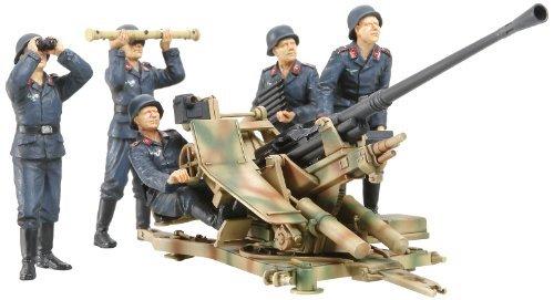 Tamiya 1/35 Military Miniature Series No.302 1/35 German 3.7cm anti-aircraft cannon 37-crew set 35302