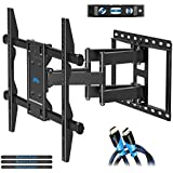 Mounting Dream TV Mount Bracket for 42-70 Inch Flat Screen TVs, Full Motion TV Wall Mount with Swivel Articulating Dual Arms, Max VESA 600x400mm, 100 LBS Loading, MD2296 (2018 Upgraded Version)