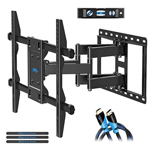 Mounting Dream TV Mount Bracket for 42-70 Inch Flat Screen TVs, Full Motion TV Wall Mounts with Swivel Articulating Dual Arms , Heavy Duty Design - Max VESA 600x400mm , 100 LBS Loading , MD2296 (Best Tv Mounts Reviews)