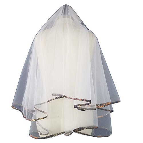 camo trimmed bridal veils -