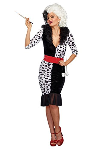 Dreamgirl Women's Dalmatian Diva, Black/White, XL