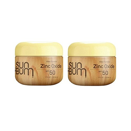 Sun Bum SPF 50 shcPG Sunscreen Clear Zinc Oxide Lotion, 1 Ounce (2 (The Sun Zinc Sunscreen)
