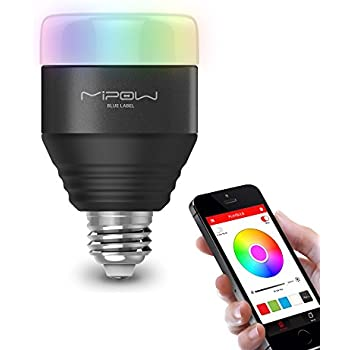 MIPOW E26 Bluetooth Smart LED Light Bulbs APP Group Controlled Dimmable Color Changing Decorative Christmas Party Lighting for iPhone, iPad and Android phones or tablets