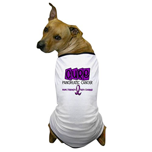 CafePress - CURE Pancreatic Cancer 1 - Dog T-Shirt, Pet Clothing, Funny Dog Costume -