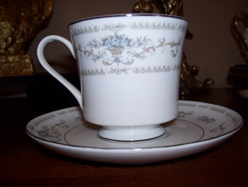 """Fine China of Japan Diane 3 1/8"""" Cup and Saucer Set (Footed)"""