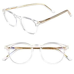 "PRIVÉ REVAUX ""The Maestro"" Handcrafted Designer Eyeglasses With Anti Blue-Light Blocking Lenses For Men & Women (Clear)"