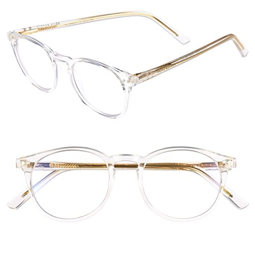"PRIVÉ REVAUX ""The Maestro"" Handcrafted Designer Eyeglasses With Anti Blue-Light Blocking Lenses For Men & Women (Clear)"