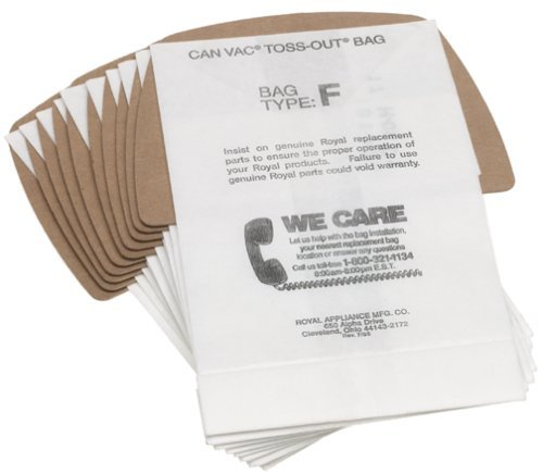 Dirt Devil Paper Bags, 10Pk Can Vac Type F - Type F