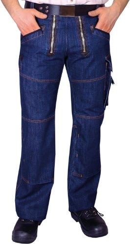 OYSTER Zunft-Hose Arbeits-Hose Jeans Stretch - blau - Größe: 52