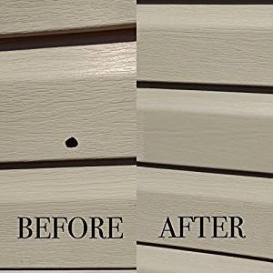 Mendyl Vinyl Siding Repair Kit, Cover Any Cracks, Holes, or Blemishes on Vinyl Siding - 2 Patches