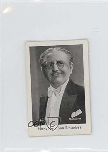 Hans Hermann Schaufuss (Trading Card) 1930s Josetti-Filmbilder - Tobacco Series 3 (721 Series)
