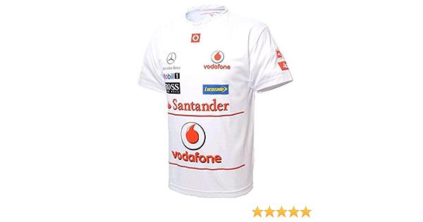 McLaren Vodafone Mercedes 2012 patrocinador Camiseta Blanco
