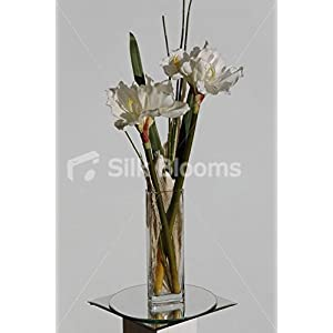 Ivory Fresh Touch Amaryllis Artificial Floral Vase Arrangement 107